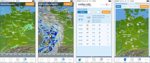 Informationen zur Wetter-App und zu den …