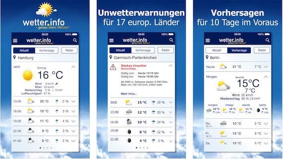 wetter App info Die 6 besten Wetter Apps für iPhone und iPad
