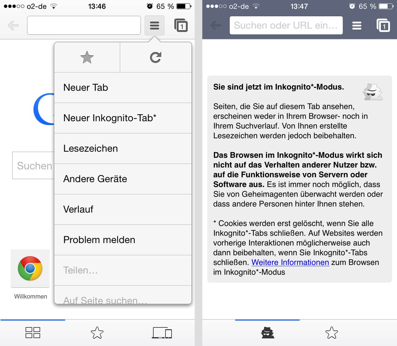 Privat Surfen In Safari Oder Chrome Auf Dem Iphone