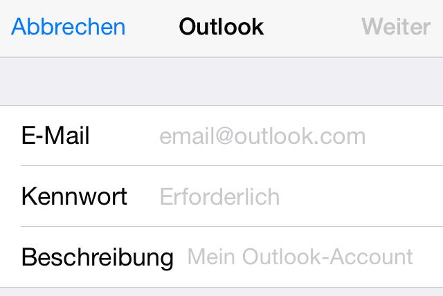 IMG 7996 Hotmail Konto, Outlook, Live oder MSN am iPhone oder iPad einrichten