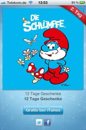 12 Tage iTunes Geschenke - Die Schlümpfe