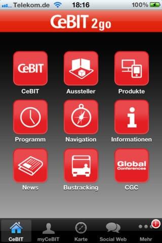 CeBIT - der offizielle mobile Messeführer