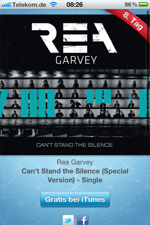 Rea Garvey - Cant Stand the Silence (Special Version) - Single