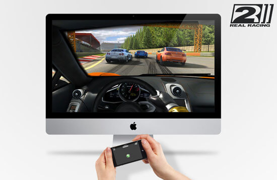 Real Racing 2 am Mac über das iPhone steuern