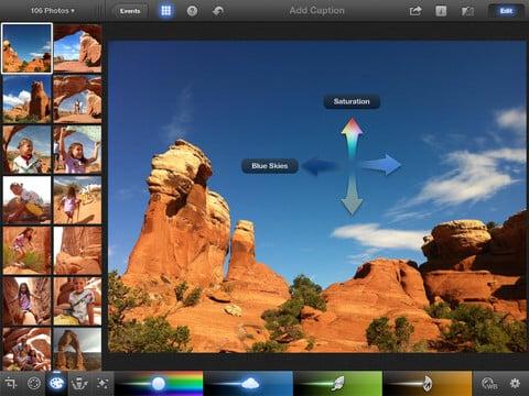 Bildbearbeitung am iPad iPhoto