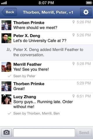 Facebook Messenger - Jetzt mit Lesebestätigung