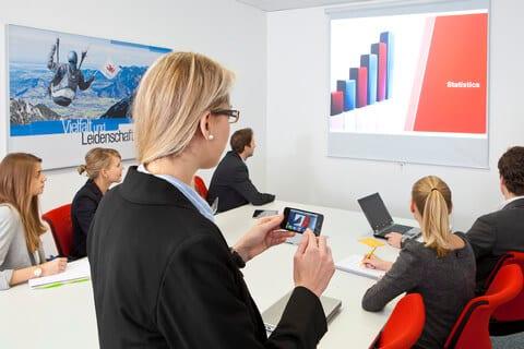 iPad als Presenter zur Wiedergabe der Präsentation auf dem Beamer