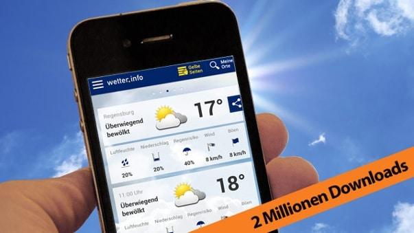 Millionen Menschen nutzen die wetter.info-App (Quelle: imago, thinkstock,t-online.de; Montage: t-online.de)