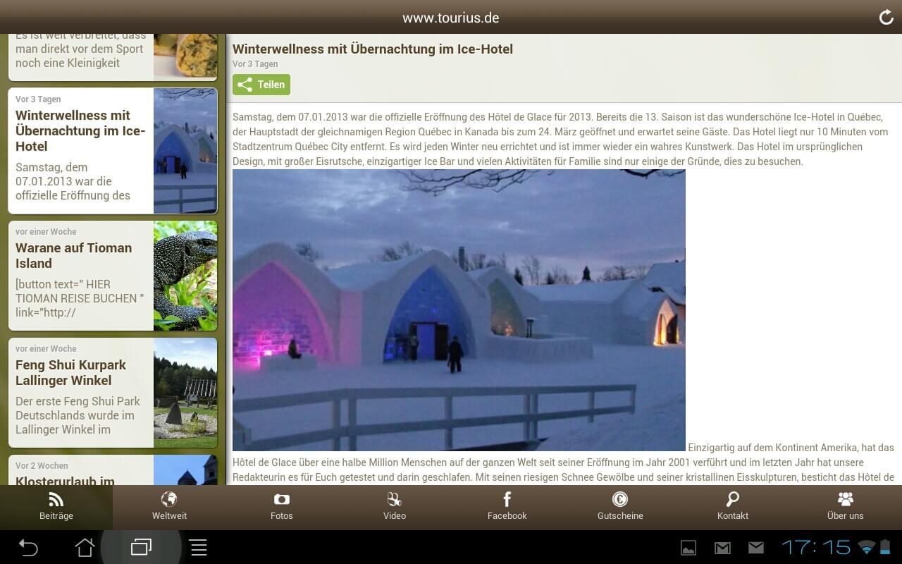 Tourius Mobil: Neue App über Reisen und Wellness