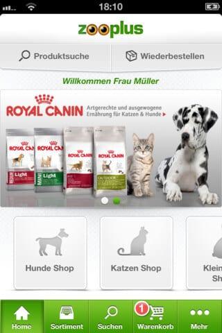 Die Zooplus App