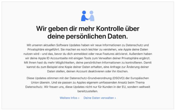 Datenschutz bei Apple
