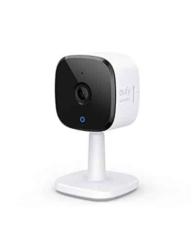 eufy Überwachungskamera, IP Kamera, Security Indoor Cam 2K Plug-In für Innenbereiche, mit WLAN-Funktion, Personenerkennung, Sprachassistent, Bewegungssensor, Nachtvision, HomeBase Nicht notwendig