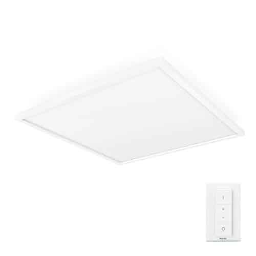 Philips Hue White Ambiance LED Panelleuchte Aurelle, inkl. Dimmschalter, dimmbar, steuerbar via App, kompatibel mit Amazon Alexa, weiß[Energieklasse A++]