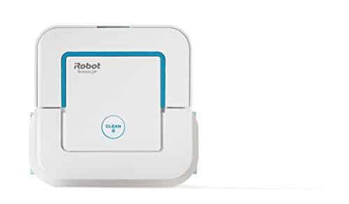 iRobot Braava Jet 250 Wischroboter mit Präzisions-Sprühstrahl, 3 in 1:Trocken-, Feucht- und Nassreinigung, Ideal für Bad und Küche, Reinigungslösung, Einwegtücher und waschbare Tücher