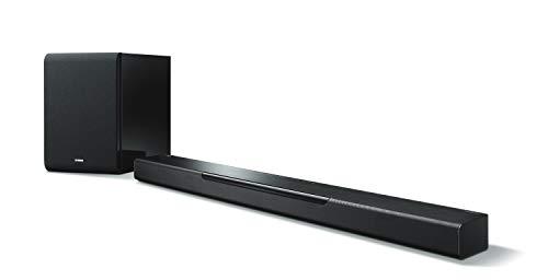 Yamaha MusicCast BAR 40 SW Sound Bar (Schlanke Soundleiste mit Wireless Subwoofer - die perfekte Ergänzung zur Heimkino-Anlage – Kompatibel mit Amazon Alexa Sprachsteuerung) schwarz
