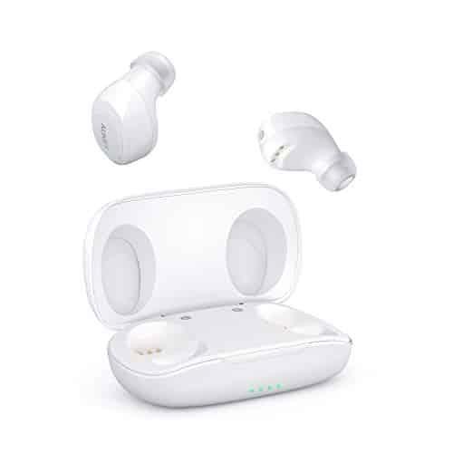 AUKEY Bluetooth Kopfhörer 5 Kabellos In Ear Ohrhörer, HiFi-Stereo Sport Headset mit IPX5 Wasserdicht, Berührungssteuerung und Automatisches Paring, Geräuschreduzierung mit Integriertem Mikrofon