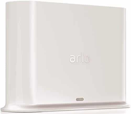 Arlo zertifiertes Zubehör   Basisstation (geeignet für Arlo HD, Pro und Pro 2 kabellose Überwachungskamera, Intelligente 90 Dezibel Sirene und mögliche lokale Speicherung via USB Port) VMB4500, weiß