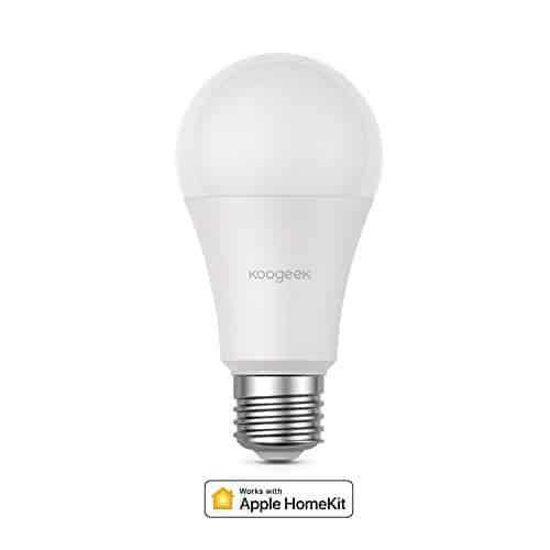 Koogeek Smart WLAN LED Lampe Wifi Glühbirne E27 Birne Kompatibel mit Amazon Alexa Echo Google Home Assistant Kein Hub Erforderlich Dimmbares Warmes Licht 560LM 7W