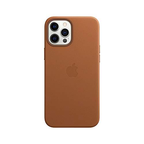 Apple Leder Case mit MagSafe (für iPhone 12 Pro Max) - Sattelbraun