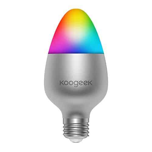 Koogeek WiFi Smart LED Glühbirne Works mit Apple HomeKit Kein Hub erforderlich Support Siri Fernbedienung aktiviert E27 Multicolor Farbe ändern Dimmable Glühlampe Christmas