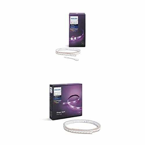 Philips Hue LightStrip Plus Set 3m, ultrahell, dimmbar, natürliches weißes Licht und bis zu 16 Millionen Farben, steuerbar via App, kompatibel mit Amazon Alexa (Echo, Echo Dot)