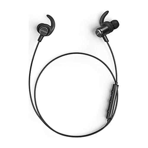 Anker SoundBuds Slim+ Bluetooth In Ear Kopfhörer Leichte Stereo Kopfhörer mit aptX High Resolution Sound, IPX5 Wasserfeste Sportkopfhörer mit Metallgehäuse und Mikrofon