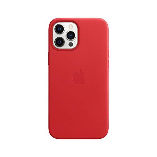 Apple Leder Case mit MagSafe (für iPhone 12 Pro Max) - (Product) RED