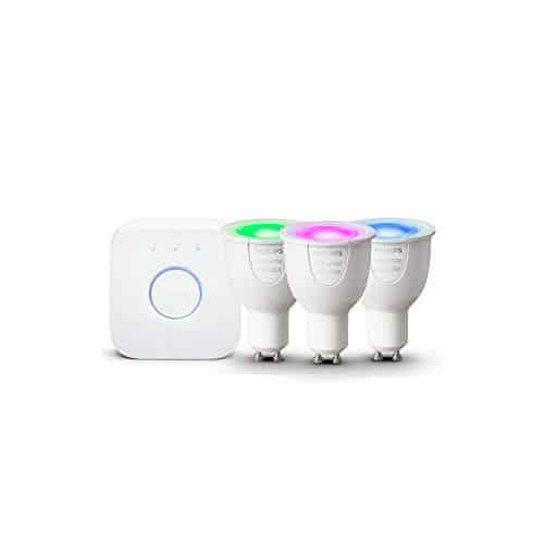 Philips Hue White und Color Ambiance GU10 LED Lampe Starter Set, 3 Lampen
