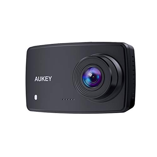 AUKEY Dashcam Full HD 1080P Autokamera Video Recorder mit 140° Weitwinkelobjektiv, WDR, Bewegungserkennung, Loop-Aufnahme, Nachtsicht und G-Sensor