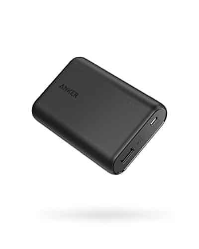 Anker Powerbank PowerCore 10000mAh, der kleine und leichter externer Akku, kompakt für iPhone XS Max/XR/XS/X/8/8Plus/7/6s/6Plus, iPad, Samsung Galaxy und weitere Smartphones(Schwarz)