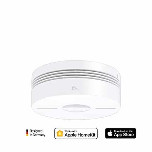 Eve Smoke - Rauchmelder (Rauch- & Hitze Dualwarnmelder) mit Selbstprüfung, funkvernetzt, Mitteilungen, BLE, DIN EN 14604 zertifiziert, 10 J. Batterielaufzeit, keine Bridge erforderlich (Apple HomeKit)