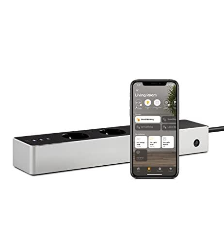 Eve Energy Strip - Smarte Dreifach-Steckdosenleiste (Deutsche Markenqualität) mit Verbrauchsmessung, Überspannungsschutz, TÜV-zertifiziert, WiFi (2,4-GHz-Band), Apple HomeKit