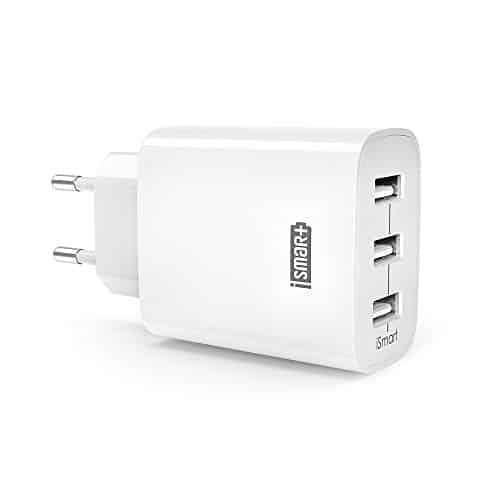 RAVPower USB Ladegerät, 30W 3-Port 6A Ladeadapter USB Netzteil mit iSmart Technologie für iPhone X XS XR XS Max 8 7 6 Plus, iPad, Galaxy S9 S8 Plus, LG, Huawei, HTC, Powerbank, MP3 usw. weiß