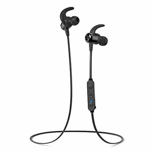 TaoTronics Wireless Bluetooth Kopfhörer 5.0 Sport Kopfhörer 20 Stunden Wiedergabezeit IPX6 Wasserdicht CVC 6.0 Geräuschunterdrückung MEMS Mikro für iPhone, iPad, Samsung, Huawei, HTC【Neue Version】
