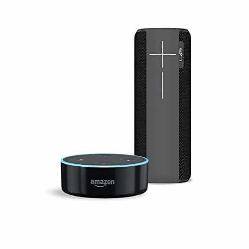 Amazon Echo Dot (2. Generation), Schwarz inkl. Ultimate Ears MEGABOOM Bluetooth und Kabellose Lautsprecher