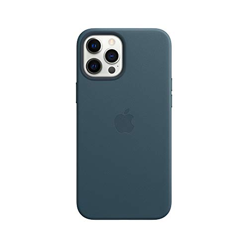 Apple Leder Case mit MagSafe (für iPhone 12 Pro Max) - Baltischblau