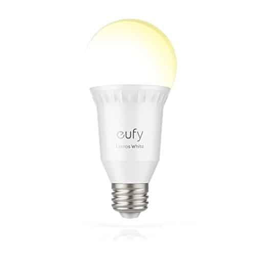 Eufy Lumos Smart LED Wifi Lampe, Dimmbare Weiße E27 LED-Lampe (2700K), Funktioniert ohne Hub, steuerbar via App, kompatibel mit Amazon Alexa (Echo, Echo Dot)