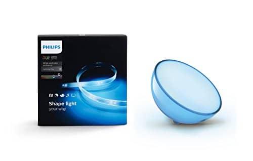 Philips Hue Lightstrip+ Basis Set (2m) inkl. Hue Go Tischleuchte, tragbares, kabelloses Licht, dimmbar, bis zu 16 Millionen Farben, steuerbar via App, kompatibel mit Amazon Alexa (Echo, Echo Dot)