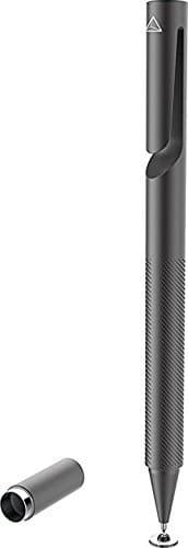 Adonit Pro 3 Stylus für Apple iPhone/iPad/Android/Windows Geräte - schwarz [Aluminium Gehäuse | Druckempfindliche Spitze | Trageclip | Magnetkappe] - ADP3B