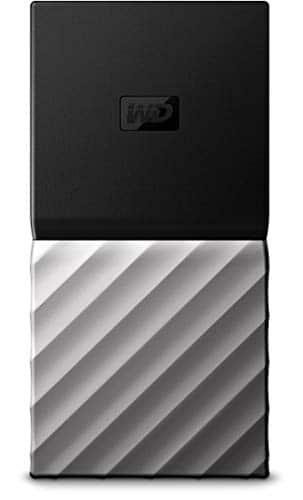 WD My Passport SSD 256 GB, Mobile  SSD-Festplatte, USB Type-C und USB 3.1 Gen 2-Ready, mit Kennwortschutz und Software für automatische Datensicherung, WDBK3E2560PSL-WESN