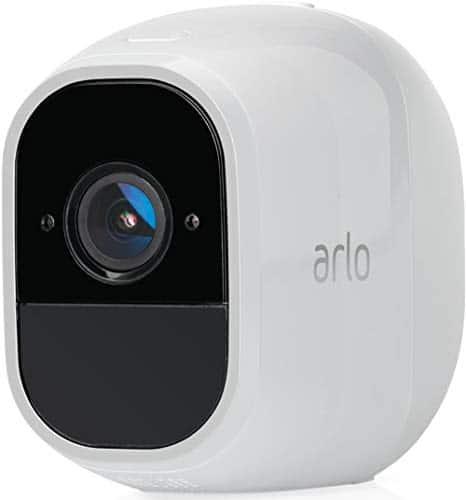 Arlo Pro2 Überwachungskamera & Alarmanlage, 1080p, Zusatzkamera, Smart Home, kabellos, Innen/Außen, Nachtsicht, 130 Grad Blickwinkel, WLAN, 2-Wege Audio, wetterfest, Bewegungsmelder, VMC4030P, weiß