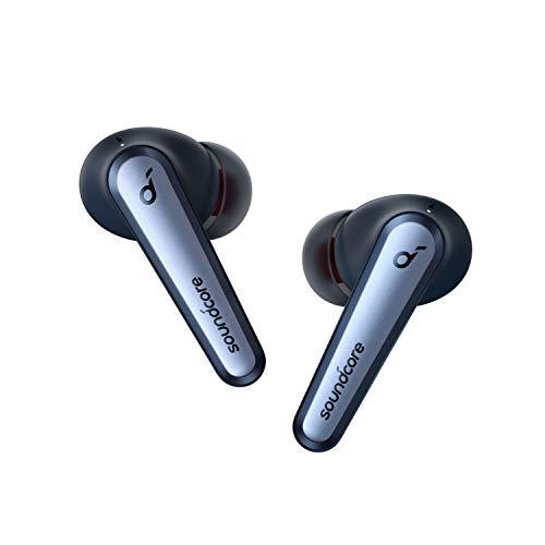 Soundcore Liberty Air 2 Pro Bluetooth Kopfhörer, Aktive Noise Cancelling Geräuschunterdrückung, PureNote Technologie, LDAC, 6 Mikrofone, 26 Std. Akku, Bluetooth 5, Kabelloses Laden(Saphirblau)