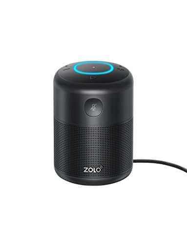 ZOLO Halo Smart Speaker mit Alexa Sprachsteuerung und Kraftvollem Klang, Amazon Music Unlimited Stream, TuneIn, Radio Player und Audio Bücher, Smart Home Gerätekontrolle, Zeiteinstellung - Bluetooth, AUX und WLAN (18 Monate Garantie, schwarz)