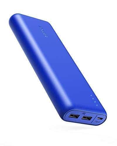 Anker PowerCore 20100mAh Externer Akku, 2-Port 4.8A Output Power Bank mit PowerIQ für iPhone XS Max/XR/XS/X / 8/8 Plus / 7 / 7s / 7Plus / 6s / 6, iPad, Samsung und weitere (Blau/Matt)