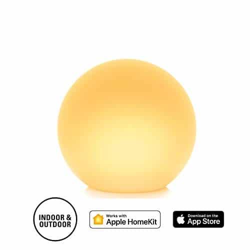 Eve Flare - Portable smarte LED-Leuchte mit IP65-Wasserbeständigkeit, kabelloses Laden, weißes und farbiges Licht, keine Bridge erforderlich, ausklappbarer Tragegriff (Apple HomeKit)