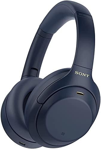 Sony WH-1000XM4 kabellose Bluetooth Noise Cancelling Kopfhörer (30h Akku, Touch Sensor, Schnellladefunktion, optimiert für Amazon Alexa, Headset mit Mikrofon) Blau