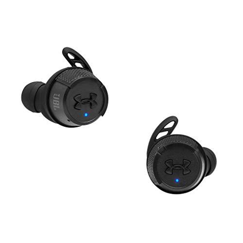 JBL Under Armour True Wireless Flash X In-Ear-Sport-Kopfhörer in Schwarz – Kabellose Ohrhörer mit Freisprecheinrichtung – Bis zu 50 Stunden Akkulaufzeit – Inkl. Ladecase