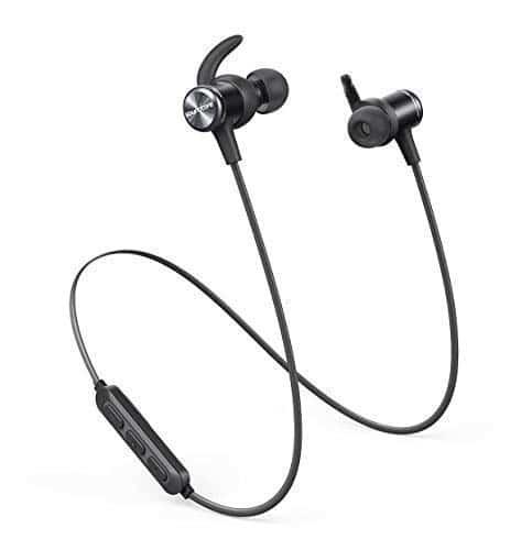Soundcore Spirit Kabellose Bluetooth Kopfhörer, 8 Stunden Akkulaufzeit, SweatGuard Technologie, Federleichtes Design und bequemer Halt, für Sport und Workout (Schwarz)