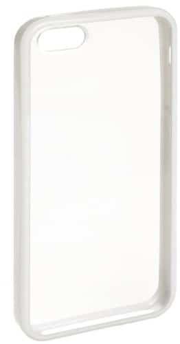 AmazonBasics IPH5030114WDB Transparente Schutzhülle mit Displayschutz für iPhone 5 (weißer Rand)