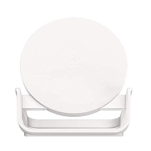 Belkin drahtloser BoostCharge Ladeständer, 10W (Qi-Zertifikat, Schnellladegerät für iPhone13, 13Pro, 13Pro Max, 13 mini und ältere Modelle, Samsung, Google etc.), Weiß